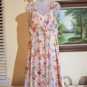Calvin klein high low  Floral dress m2